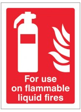 For Use On Flammable Liquid Fires