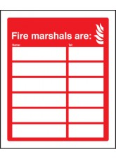 Fire Marshals Are (6 Names and Numbers)