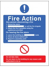 General Fire Action (No Lift in Building)