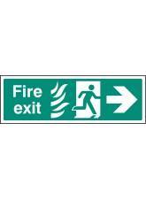 HTM Fire Exit - Arrow Right
