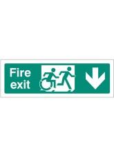 Inclusive Disabled Fire Exit Design - Arrow Down