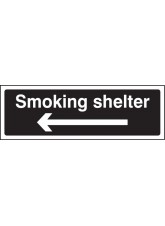 Smoking Shelter Left Arrow (White / Black)