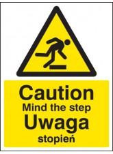 Caution Mind the Step (English / Polish)