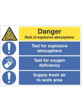 Risk of Explosive Atmosphere - Test for Oxygen Deficiency - Supply Fresh Air