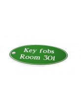 Green Key Fob - Oval