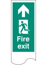 Door Plate - Fire Exit Left