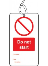 10 x Do Not Start - Double Sided Tags