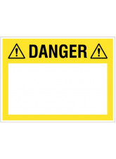 "Small Wipe Clean Board ""Danger (Write your Message)"""
