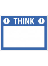 "Large Wipe Clean Board ""Think (Write your Message)"""