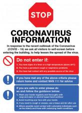 STOP - Do not enter if - Coronavirus Poster