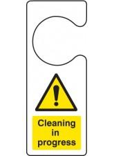 Cleaning in Progress - Door Hanger