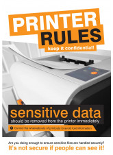 Printer Rules Poster