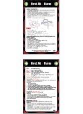 First Aid Burns - Pocket Guide - 80 x 120mm