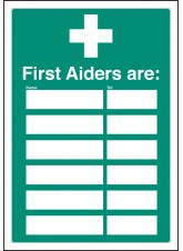 First Aiders Are - Adapt-a-Sign