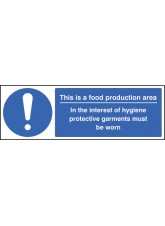 Food Production Area PPE Garments Must be Worn