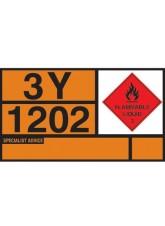 Diesel / Gas Oil Hazchem Placard - Aluminium