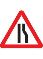 Fold Up Sign - Road Narrows Right 600mm Triangle Sign