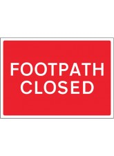 Footpath Closed Reflective Fold Up Sign - 600 x 450mm
