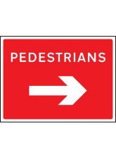 Pedestrians Arrow Right - Class RA1 - 600 x 450mm