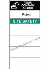 Site Safety Board with Logo - Select Your PreFerred Messages - 600 x 1200mm