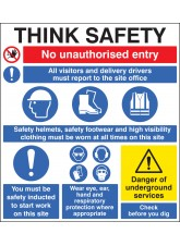Site Safety Board - 900 x 1000mm