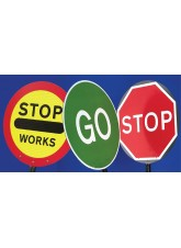 Stop/Go Lollipop Sign 600mm Dia - 1500mm Pole