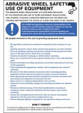 Abrasive Wheel Regulations Poster