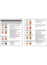 Pocket Guide GHS Symbols (Pack 10)