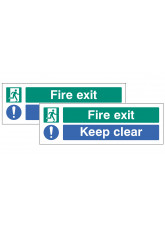 Fire Exit - Keep Clear Double Sided Window Sticker