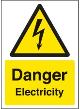 A4 Danger Electricity