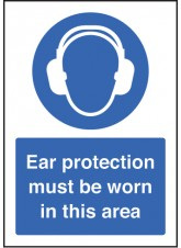 A5 Ear Protection Must Be Worn