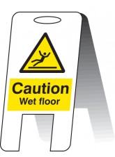 Caution Wet Floor - Self Standing Folding Sign