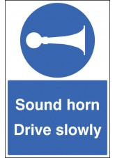 Sound Horn Drive Slowly - Floor Graphic