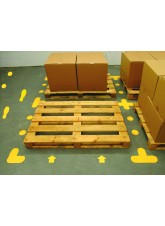 Yellow Floor Signal Markers (L) - 200 x 200mm (Pack of 10)