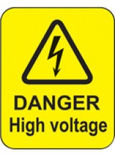 Danger High Voltage Labels