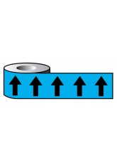 Pipeline ID Black Arrows On Light Blue (20E51) - 50mm x 33m