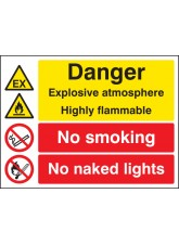 Explosive Atmosphere Highly Flammable No Smoking/naked Lights