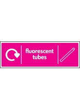 WRAP Recycling Sign - Fluorescent TuBes