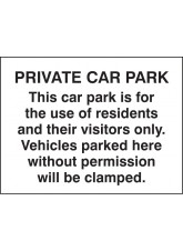 Private Car Park / ResIdents / Visitors Only