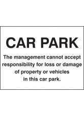 Car Park Disclaimer