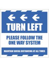 Turn Left - Arrow Left - Follow the One Way System