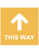 This Way - Arrow Up - Orange Floor Graphic