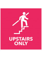 Upstairs Only - Red Floor Graphic