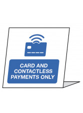 Card and Contactless Payments only - Single Sided Table Card